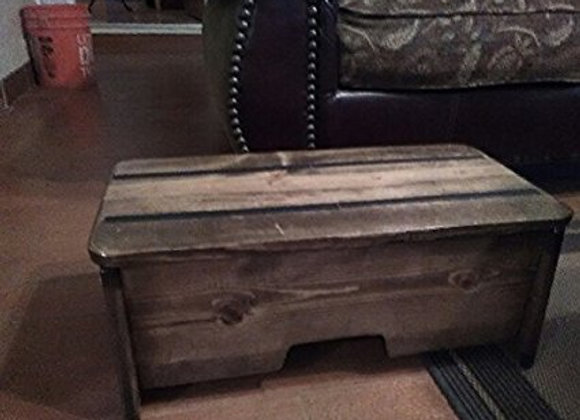 81/2'' Tall Provencial Stained Wood Step Stool ( Made in U.S.A.)