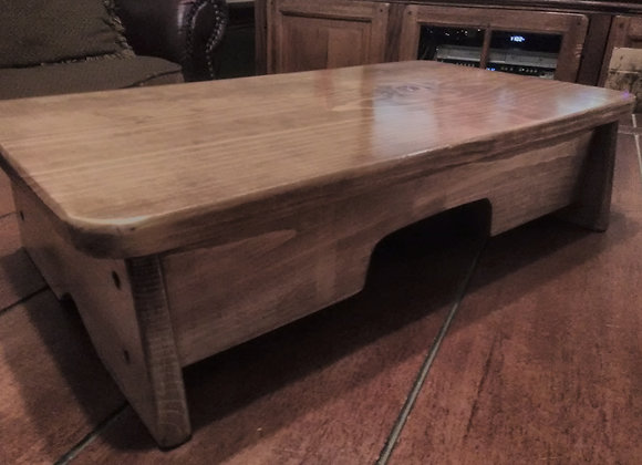 7 Inch Tall BEDSIDE STEP STOOL FINISHED ( MADE IN U.S.A. )
