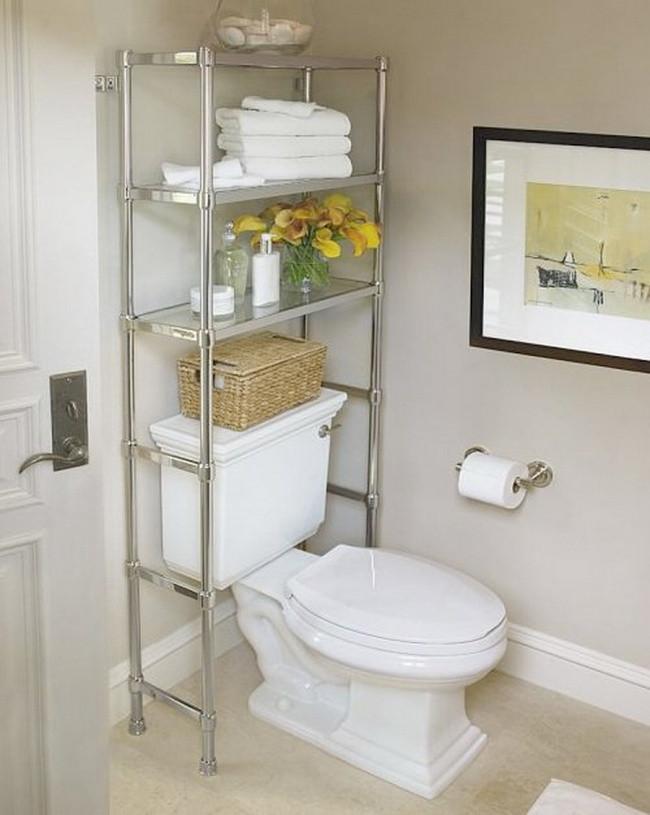 Estante para otimização de banheiro