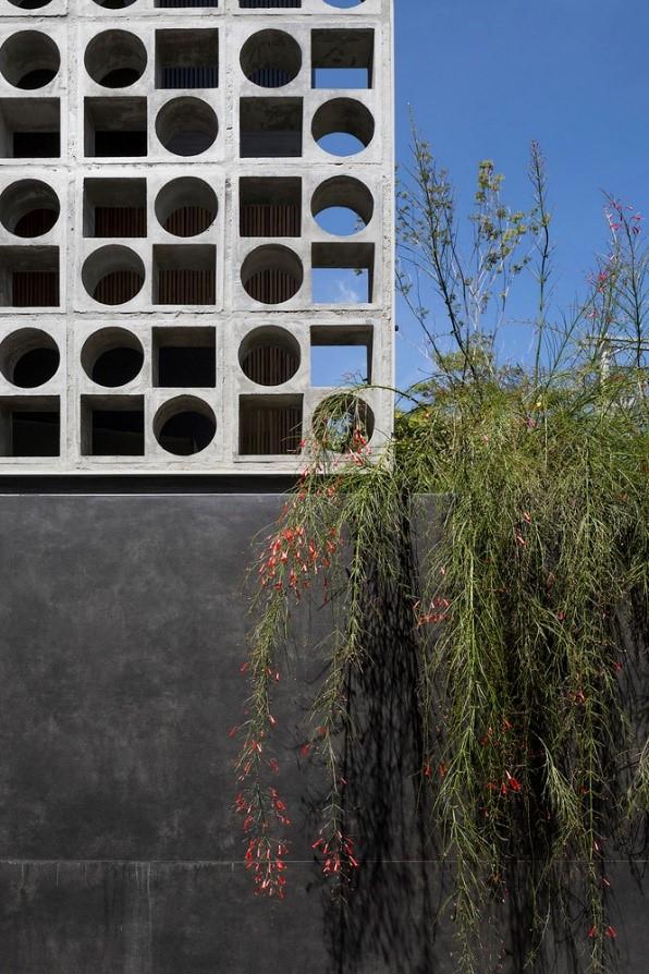 Elementos vazados em fachadas