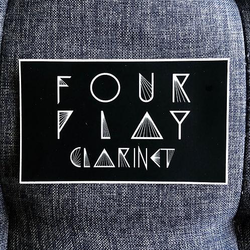 Four Play clarinet Logo Sticker
