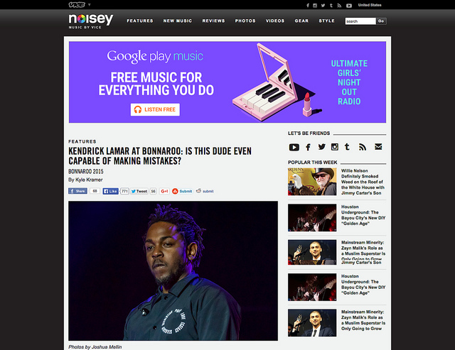 Noisey, Music by VICE