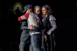 Barack Obama & Michelle Obama with Chance the Rapper