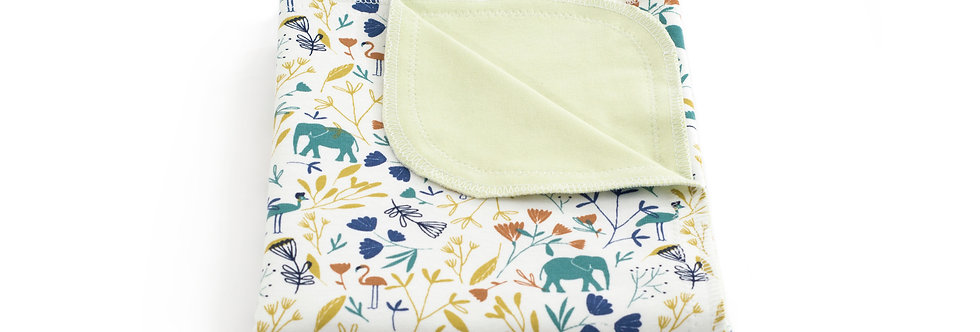 Paturica bumbac Jersey bebe baby cotton blanket elefant elephant jungla jungle