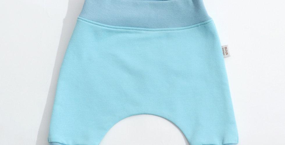 Pantaloni harem bumbac OEKO-Tex French terry aqua cotton pants