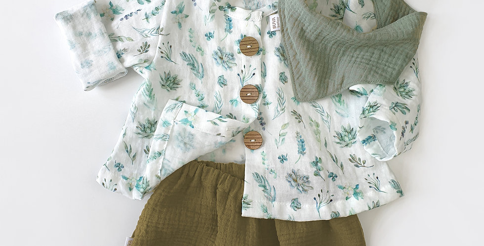 Outfit muselina Green Leaves& Copper