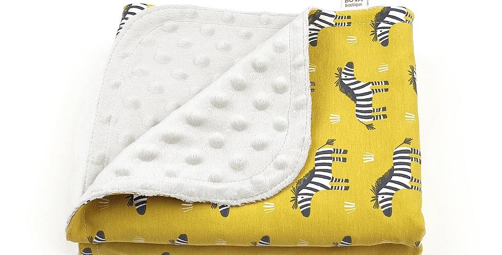Paturica Minky Jersey baby bebe zebra