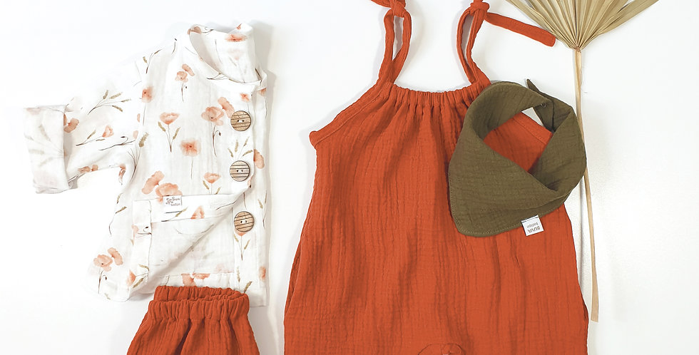 Outfit muselina Poppy& Rouille