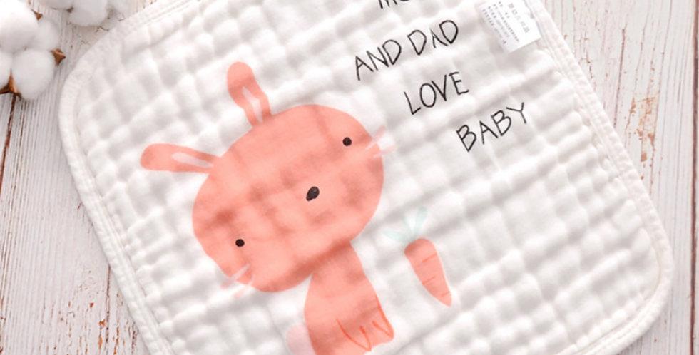 Set prosopele muselina bumbac bebe iepuras unicorn baby face muslin towel bunny unicorn