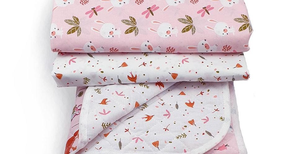 Cuvertura cearceaf bumbac bebe iepuras libelula duvet baby bedsheet bunny dragonfly