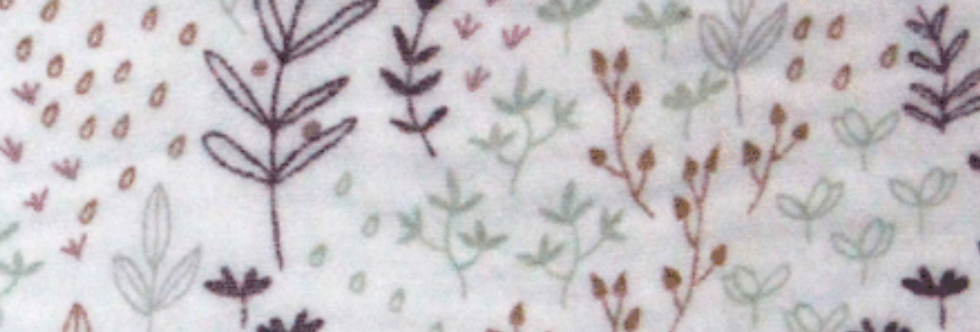 Material textil muselina bumbac grena flori Buva Boutique cotton muslin purple flowers