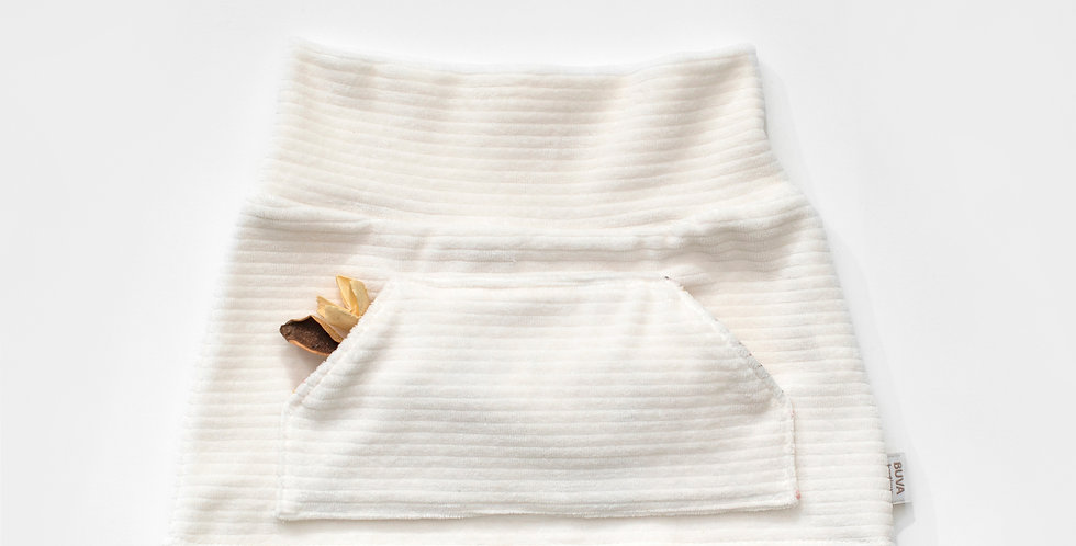 Fustita bumbac Ecru Babyrib cotton skirt