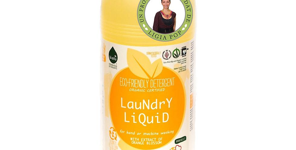 Detergent Ecologic pt. Rufe Albe si Colorate Portocale 1L Biolu
