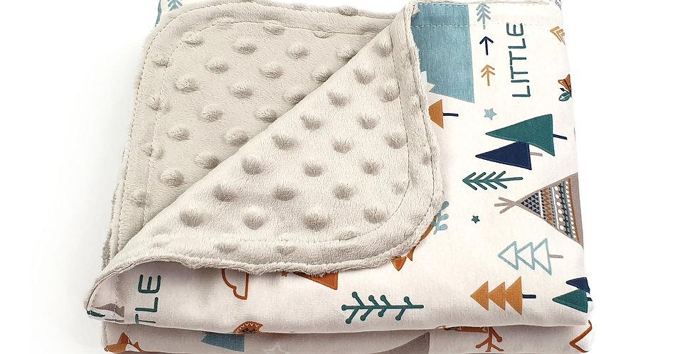 Paturica Minky Jersey baby bebe padure woodland