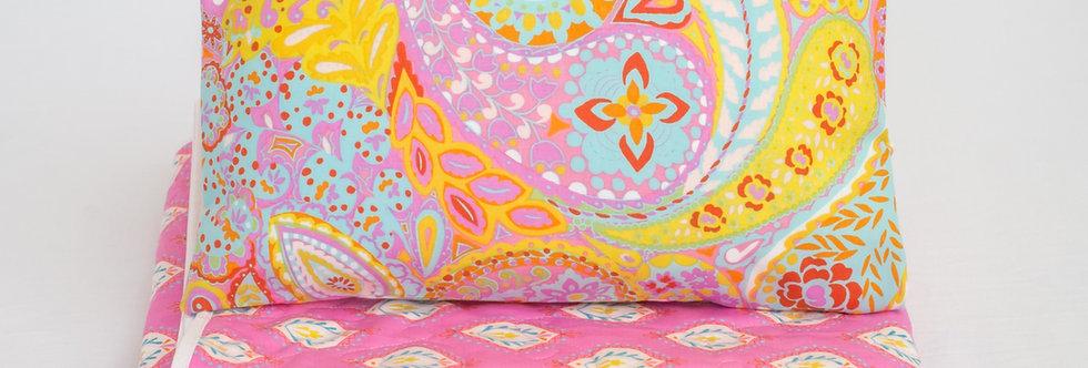 Buva set quilt Pink Paisley
