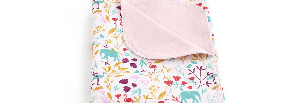 Paturica bumbac Jersey bebe baby cotton blanket elefant elephant jungla jungle