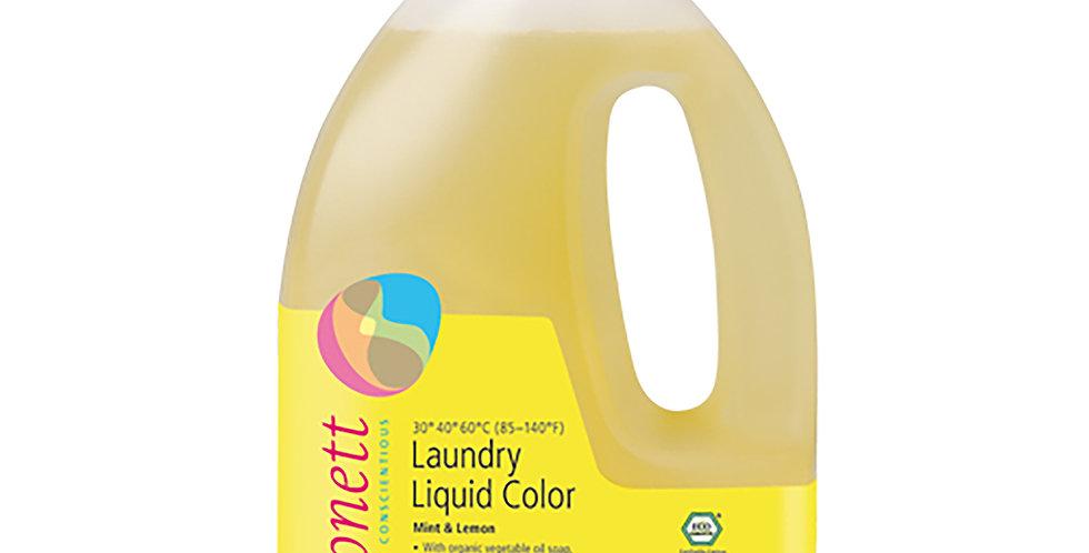 Detergent Ecologic Lichid pt. Rufe Colorate Menta si Lamaie 1.5L Sonett