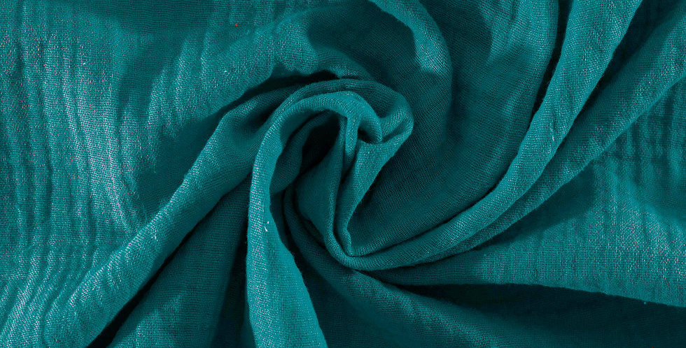 Material textil muselina bumbac paun paon Buva Boutique cotton muslin peacock