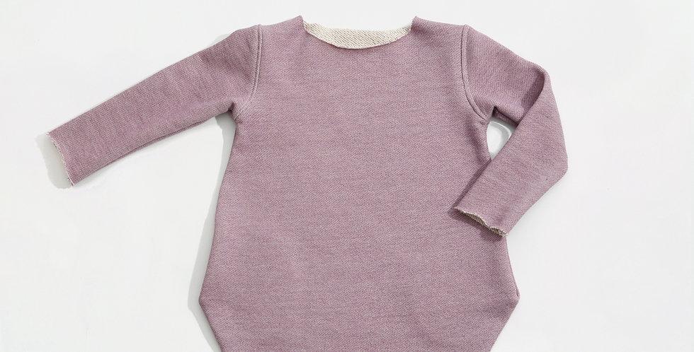 Rochita bumbac OEKO-Tex French terry urban girl berry cotton dress