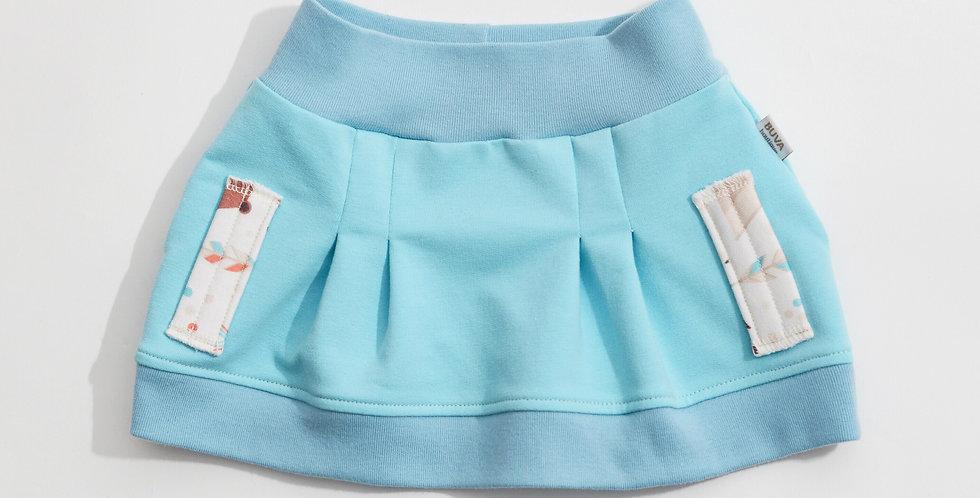 Fustita bumbac OEKO-Tex French terry aqua cotton skirt
