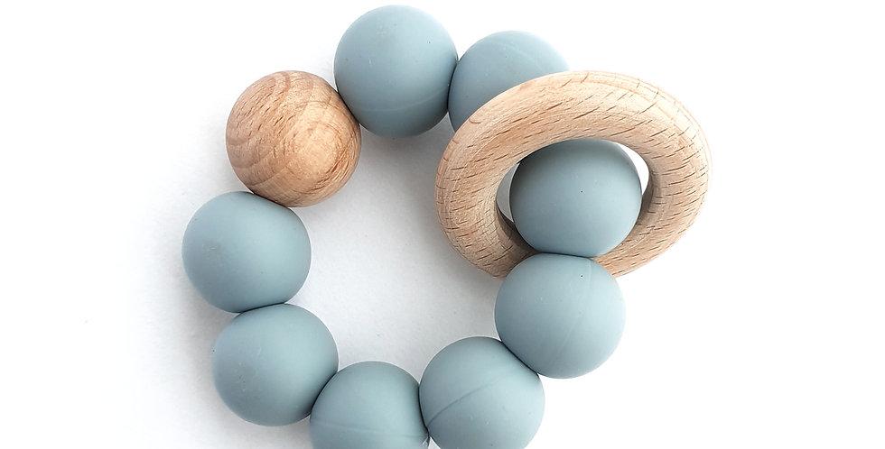 Buva Boutique teether toy powder blue jucarie dentitie bleu