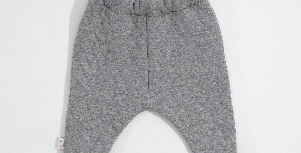 Pantaloni bumbac OEKO-Tex urban boy quilted grey pants