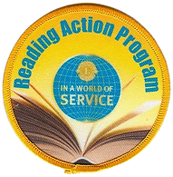 Lions Reading Action Program image which says In a world of Service
