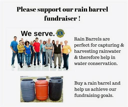 Lions Please support our Rain Barrel Fundraiser image