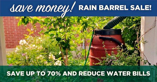 Save Money Rain Barrel Sale image