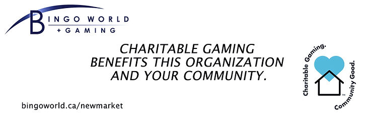 Logo from Bingo World + Gaming. Says Charitable Gaming Benefits this organization and your community