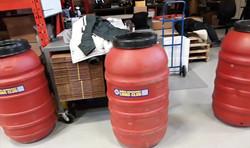 Rain barrels with our Club deco
