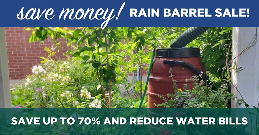 Rainbarrel Sale. Save Money. Save up to 70% and reduce water bills.