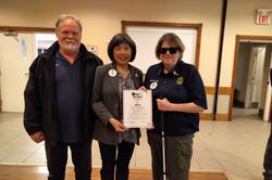 alt text Pet Valu Walk for Dog Guid Certificate of Appreciation