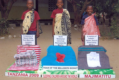 Sleeping Children Around the World we sponored with bed kits picture