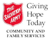 Salvation Army Logo wihich says Giving Hope Today Comunity and Family Services