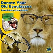 Lions Donate your Old Eyeglasses with a Lion wearing a pair of eyeglasses image