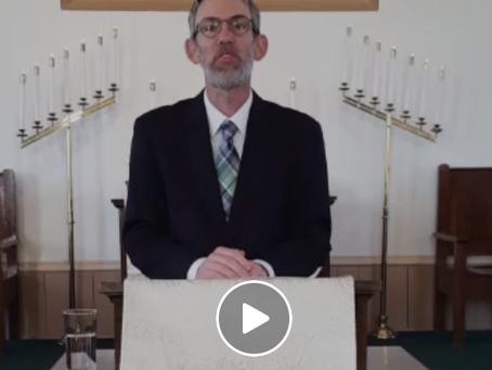 May 3rd Sermon