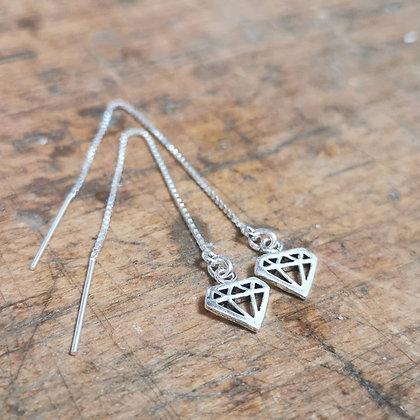 Boucles chaînettes et diamant
