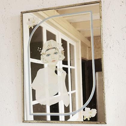 Ancien miroir Demoiselle