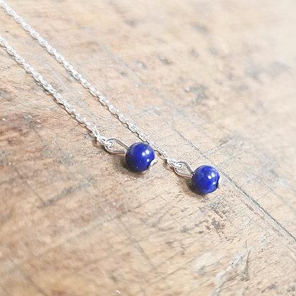 Boucles chaînettes et lapiz-lazuli