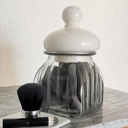 Verre à cotons grey & black - white