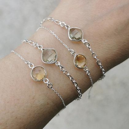 Bracelet en argent et pierre fine