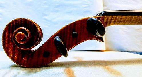 Chealsea Allen violist, viola scroll