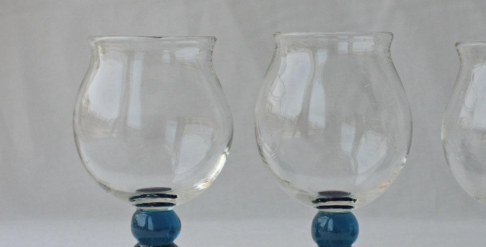 ワイングラスL ブルー 32