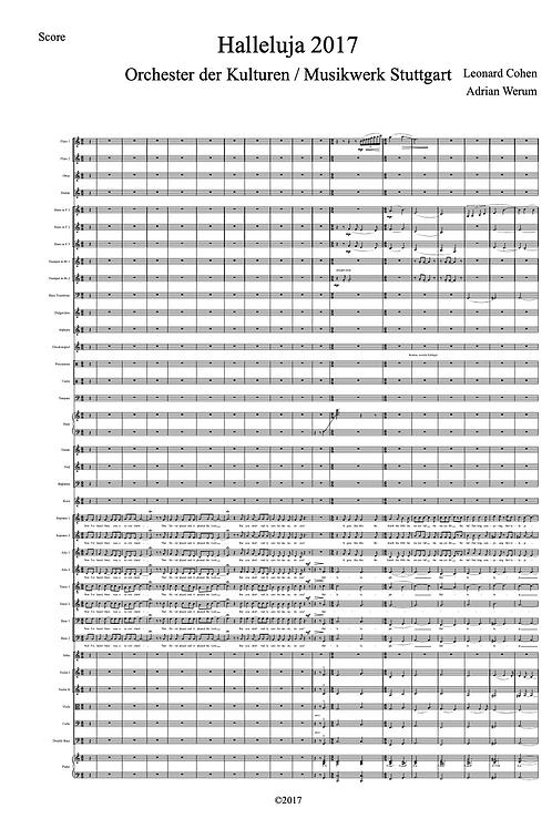 Halleluja für Orchester und Chor