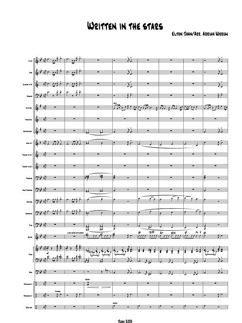 """""""Written in the Stars"""" für Symphonisches Blasorchester"""