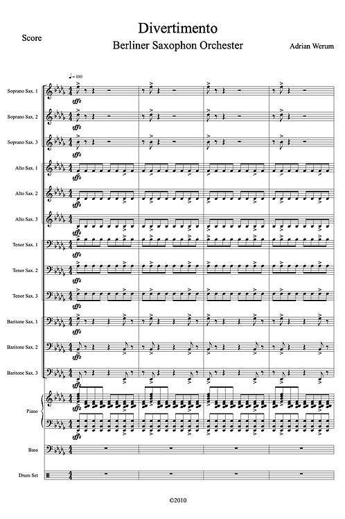 Divertimento für Saxophonorchester