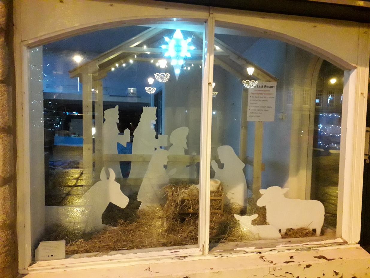 Our Nativity scene in the Square
