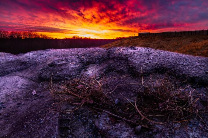 Sunrise on the concrete pile.jpg