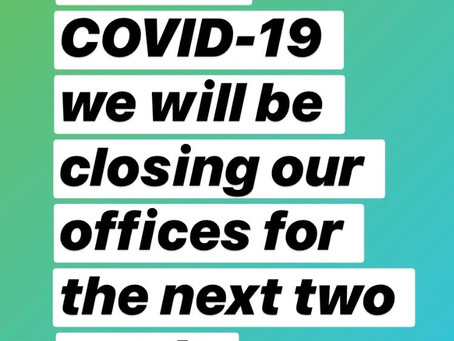 COVID-19 Temporary Office Closures